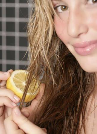 osvetleniye volos limonom
