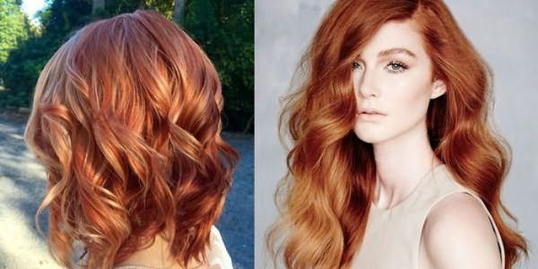 Два варианта калифорнийского окрашивания на рыжих волосах