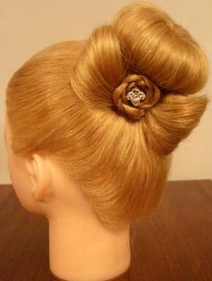 как делать шишку с бубликом из волос