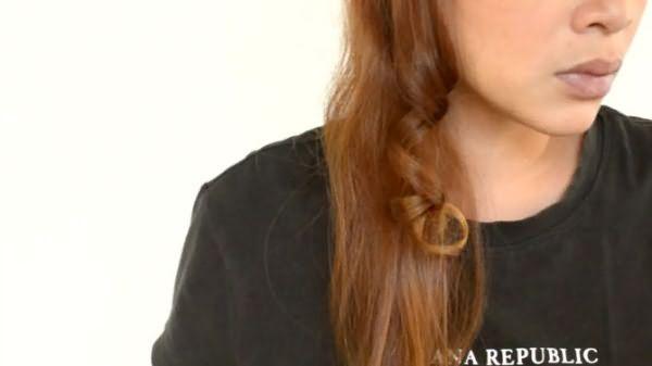 Как сделать кудри-спирали: шаг 4