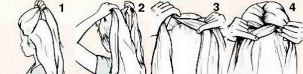 Французская косичка - схема плетения