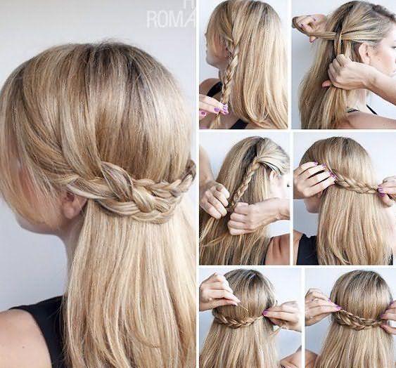 Простые прически для волос до плеч в греческом стиле