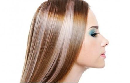 Результат тонирования мелированных волос