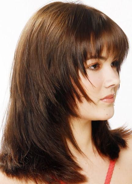 Стрижка аврора на длинные волосы 1
