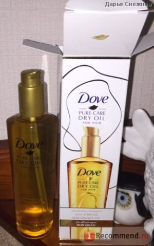 Масло для волос Dove Pure Care Dry Oil for hair фото