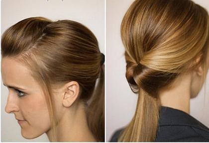 прическа с резинкой для волос