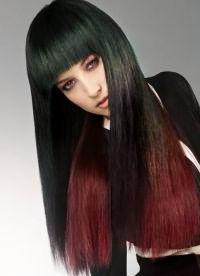 омбре на длинные прямые волосы 2
