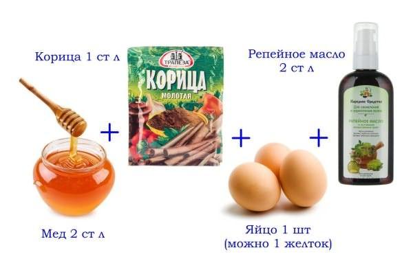 Корица с репейным маслом