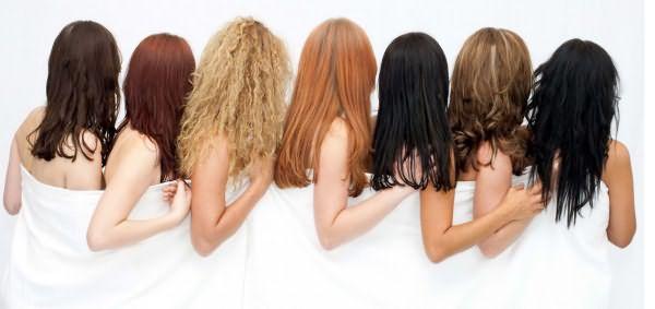 Девушки с разным цветом волос