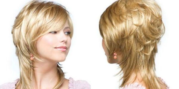Волосы средней длины уложенные дома