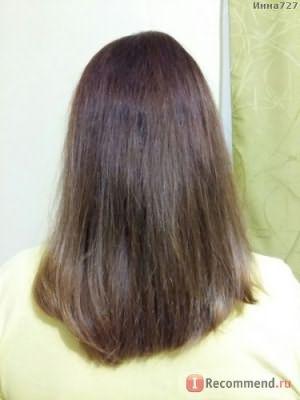 После процедуры. Свет электричесткий тусклый, поэтому цвет волос совсем другой, не красила. Сохли без фена