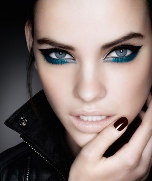 Вечерний макияж для голубых глаз 3
