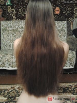 Длина волос спустя месяц