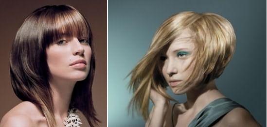 Асимметрия на средних волосах