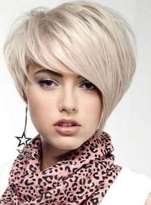 асимметричная стрижка на короткие волосы фото