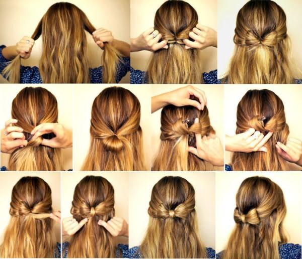 Бантик на длинные волосы