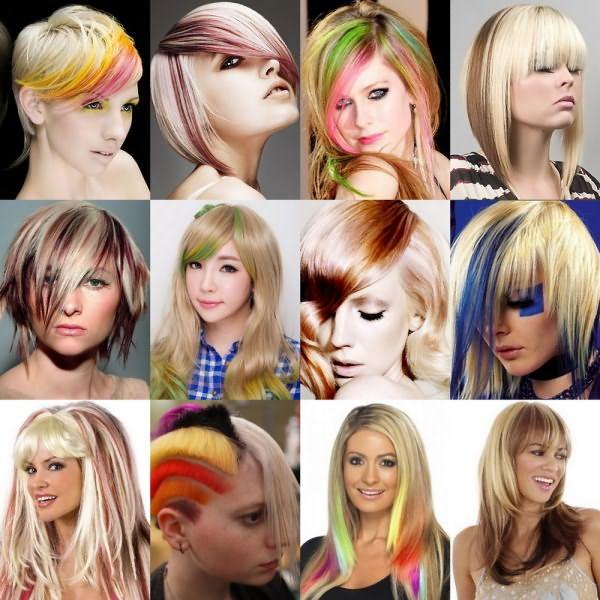 Для неординарных личностей подойдет яркое красное, желтое или вовсе похожее на радугу окрашивание
