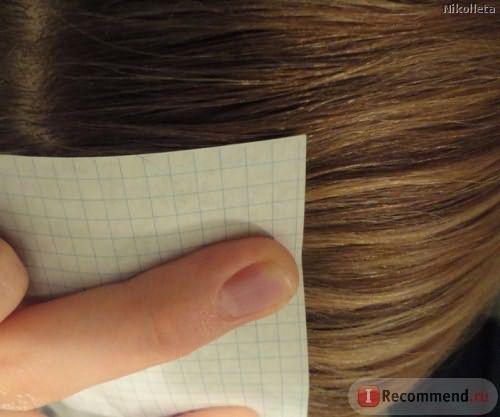 попытка измерить рост волос (прошу прощения, освещение плохое)