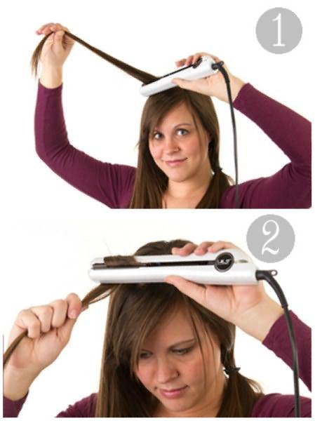 Волосы закручиваются на утюжок