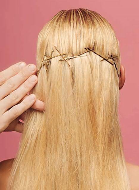 Оригинальные прически на средние волосы13