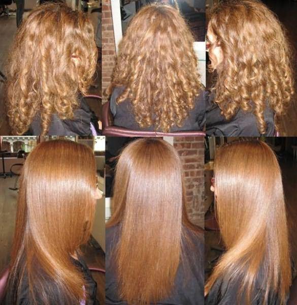 Укрепление волос кератином
