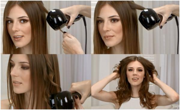 Процесс завивки волос плойкой BaByliss