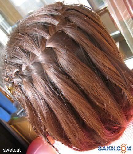 Очаровательные французские косички на короткие волосы
