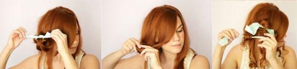 Накручивание волос на тряпочки