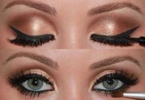 зеленые глаза русые волосы макияж