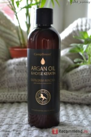 Бальзам-маска Compliment Argan oil & horse keratin фото