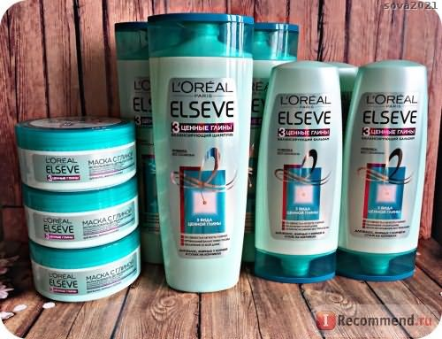 Маска для волос L'Oreal Paris Elseve 3 Ценные Глины Extraordinary Clay Masque фото