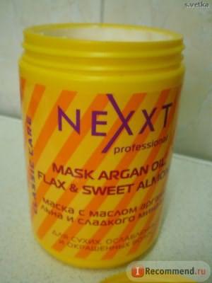 Маска для волос Nexxt professional С малом арганы,льна и сладкого миндаля фото