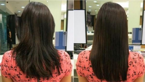обжиг волос огнем до и после