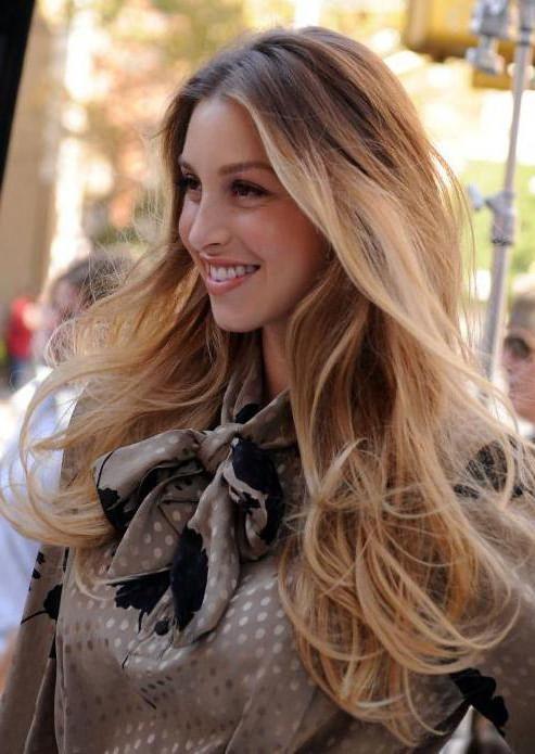 омбре на длинные русые волосы