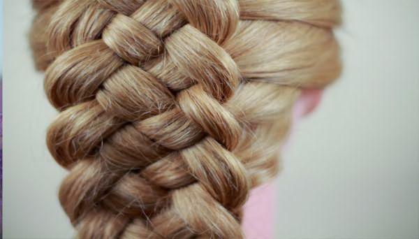 Плетение из 5 прядей