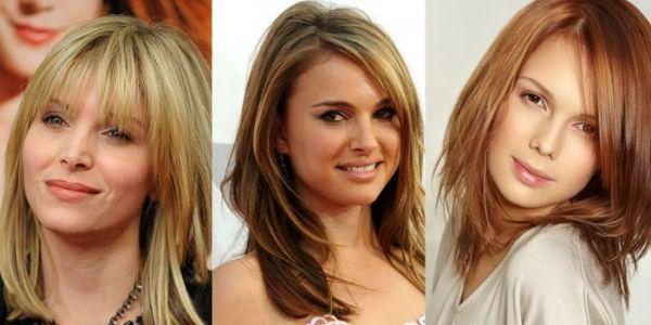 Фото девушек с модными стрижками на волосы средней длины
