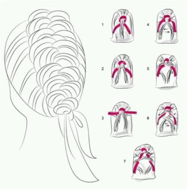 Плетя французскую косу с тесьмой, очень важно, чтобы пряди были одинакового объема, тогда прическа получится аккуратной
