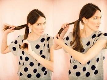 Как сделать косу из жгутов: шаг 3-4