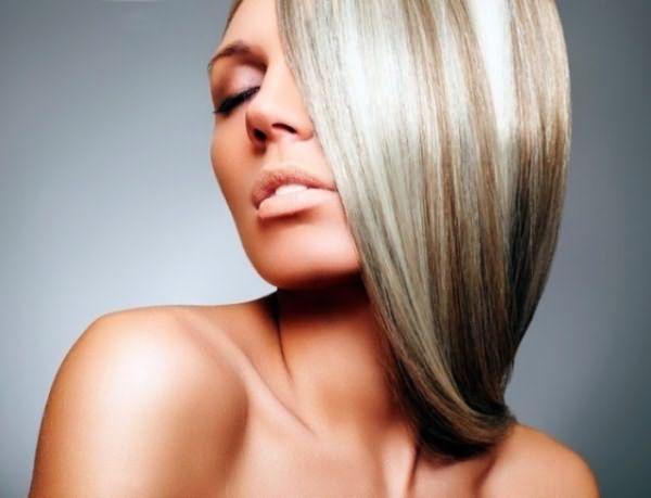 Волосы с серебристым отливом