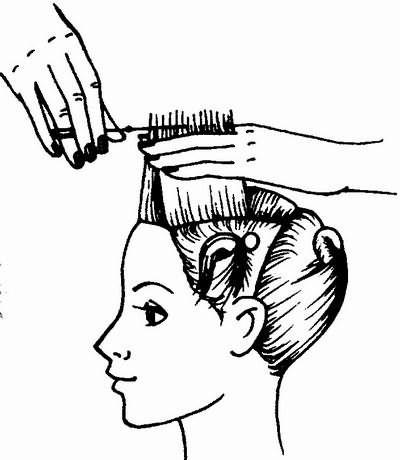 выравнивание среза контрольной пряди волос