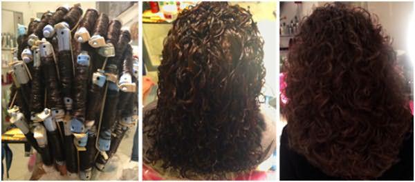 Для длинных волос лучше выбирать бигуди среднего диаметра