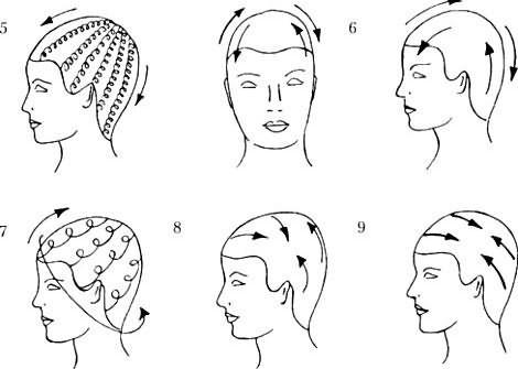 Фото техники выполнения массажа головы