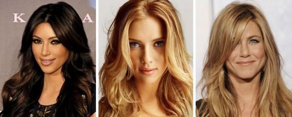 Каскадная стрижка на длинноволосых девушках