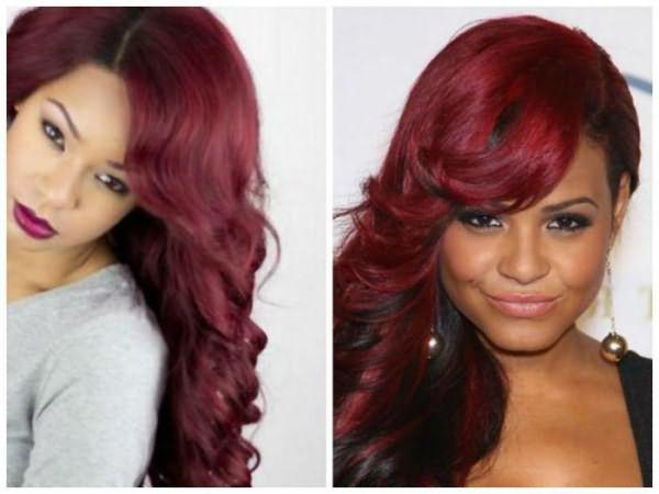 краска для волос бургундский цвет