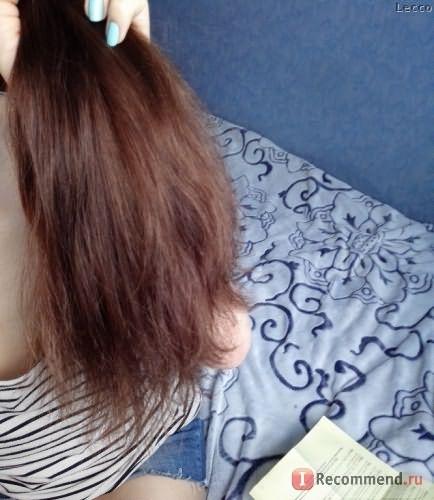 Волосы вымытые и высушенные феном без брашинга