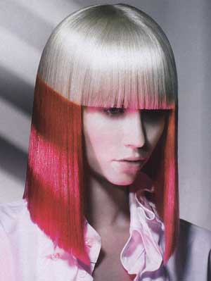 silver-pink-color-blocked-hair
