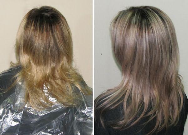 Фото до и после брондирования русых волос