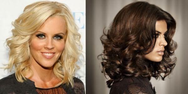 Фото вариантов укладки волос крупными локонами