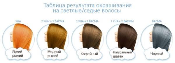 Оттенки хны для светлых и седых волос