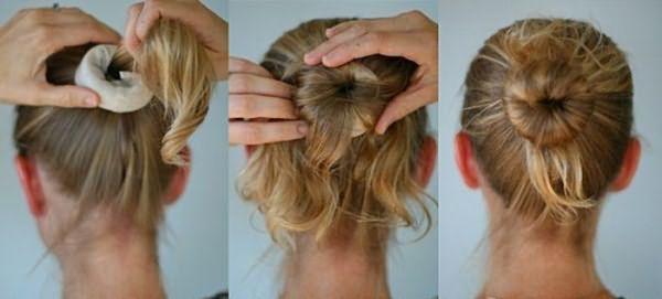 Создание пучка из коротких волос
